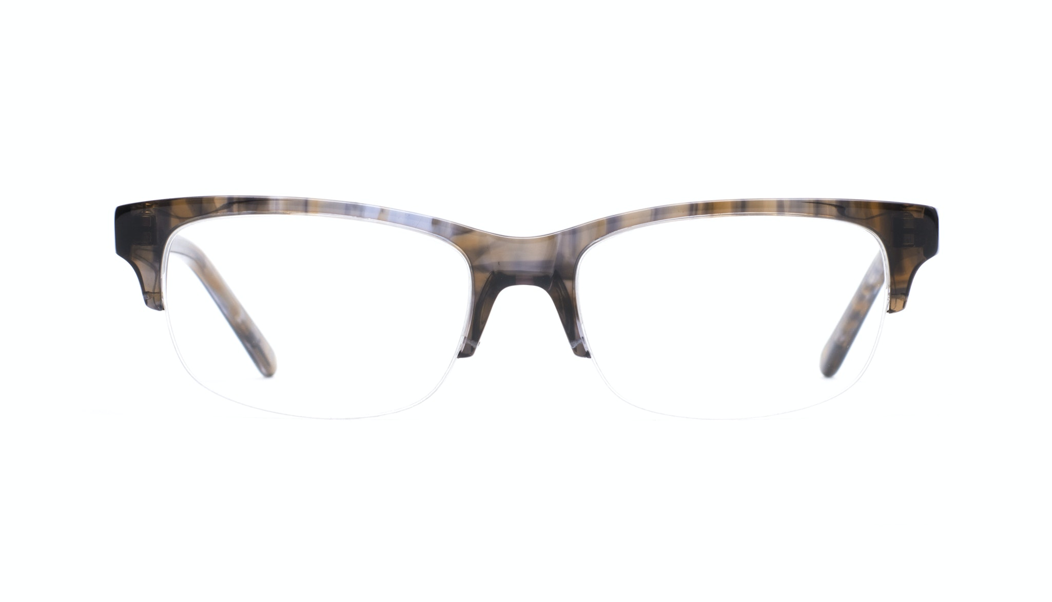 Affordable Fashion Glasses Rectangle Semi-Rimless Eyeglasses Men Atwater Light Grey Tort