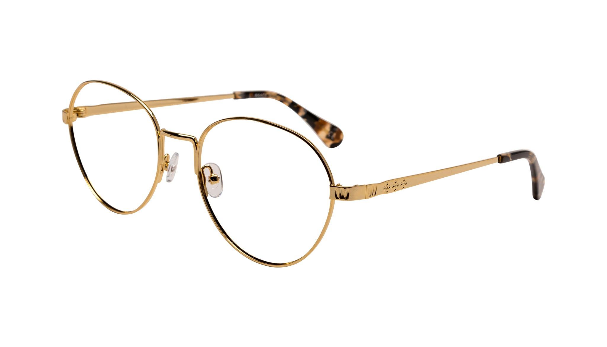 Affordable Fashion Glasses Round Eyeglasses Women Brace Plus Gold Tilt