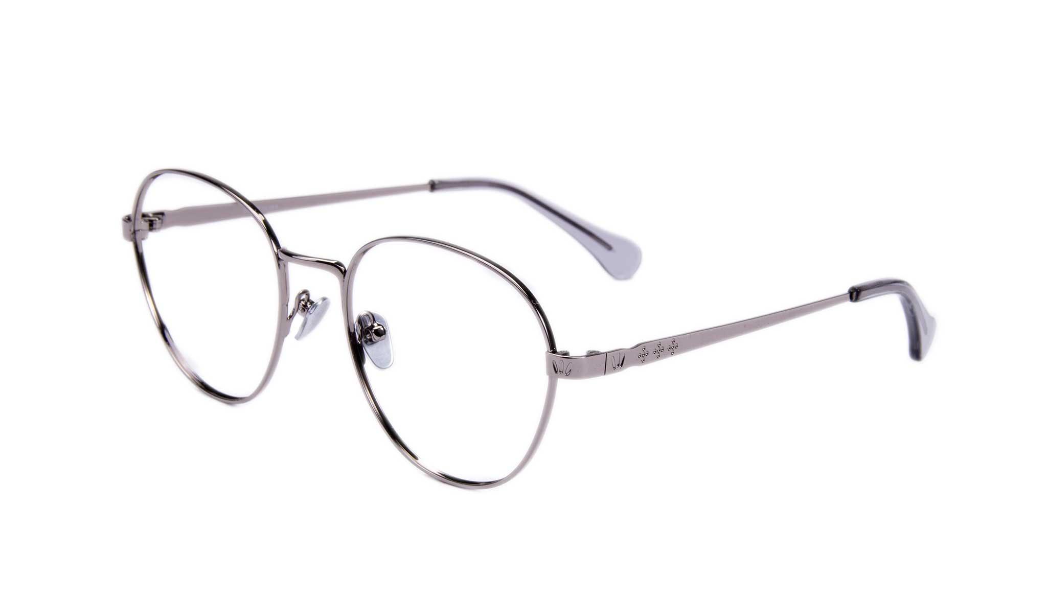 Affordable Fashion Glasses Round Eyeglasses Women Brace Silver Tilt