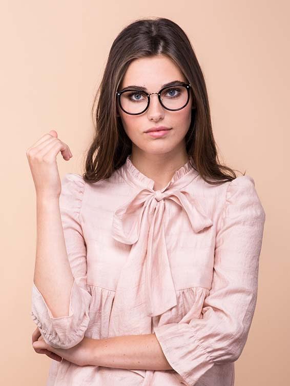 Affordable Fashion Glasses Square Round Eyeglasses Women Amaze Onyx