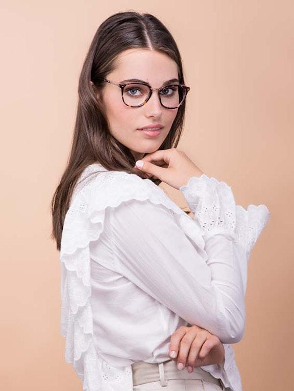 Affordable Fashion Glasses Square Round Eyeglasses Women Bella Dark Tortoise