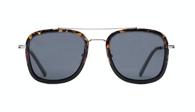 Affordable Fashion Glasses Aviator Rectangle Sunglasses Men Class Mahogany Black Front