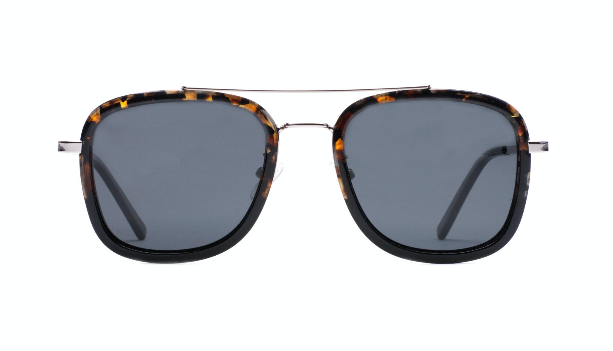 Affordable Fashion Glasses Aviator Rectangle Sunglasses Men Class Mahogany Black