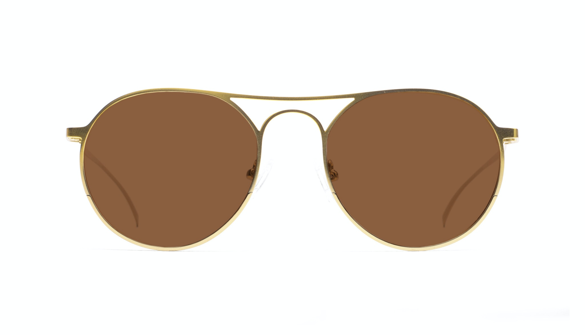 Affordable Fashion Glasses Aviator Round Sunglasses Men Contour Gold Front