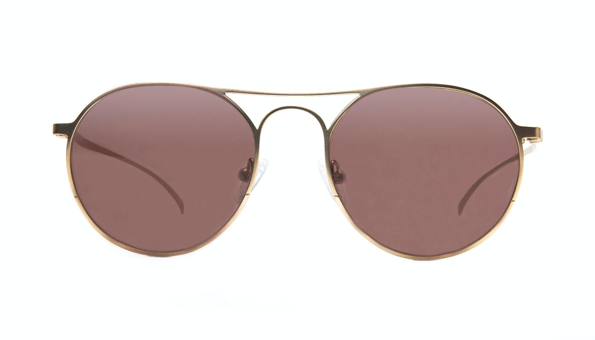 Affordable Fashion Glasses Aviator Round Sunglasses Men Contour Gold Front