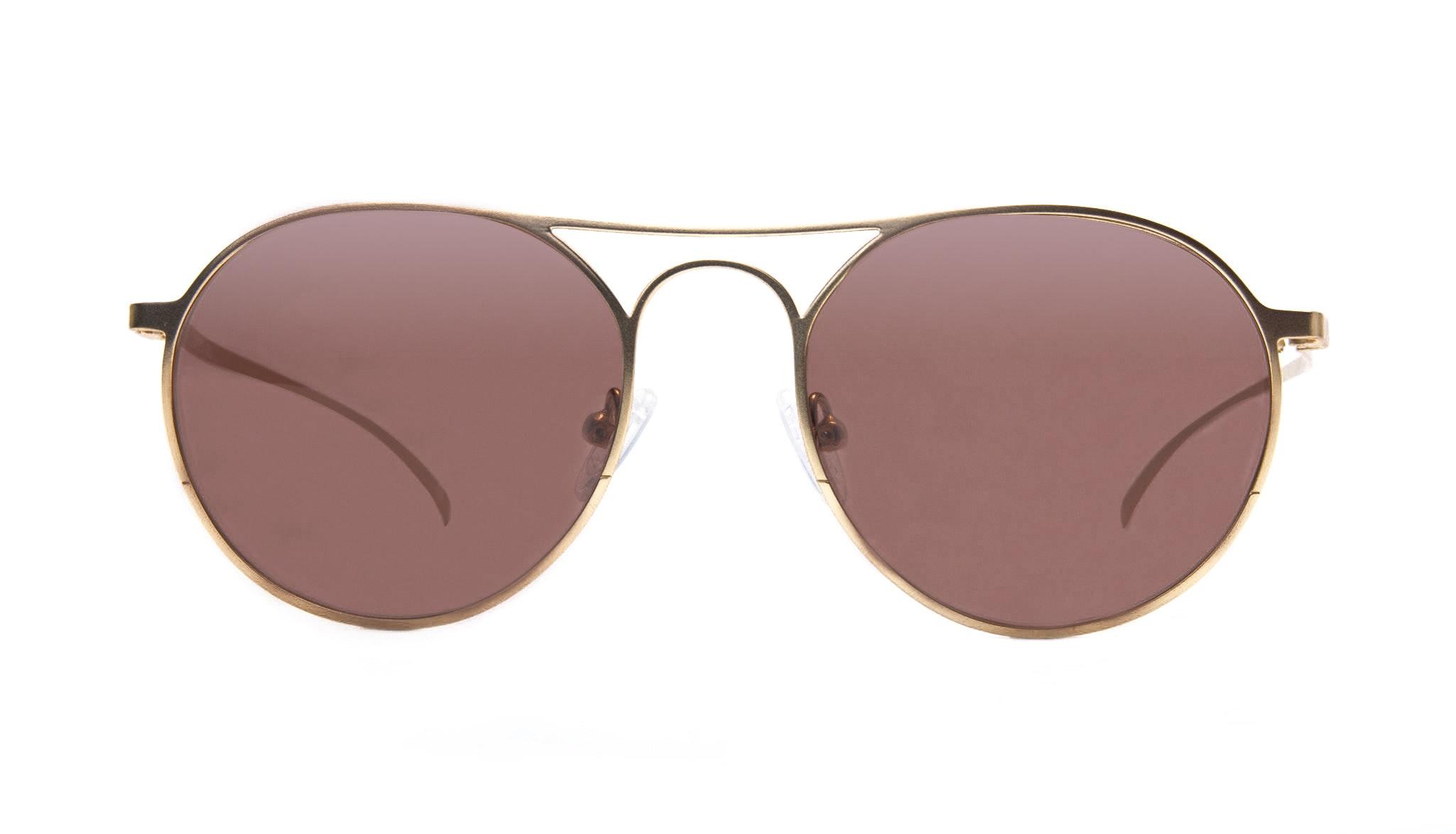 Affordable Fashion Glasses Aviator Round Sunglasses Men Contour Gold