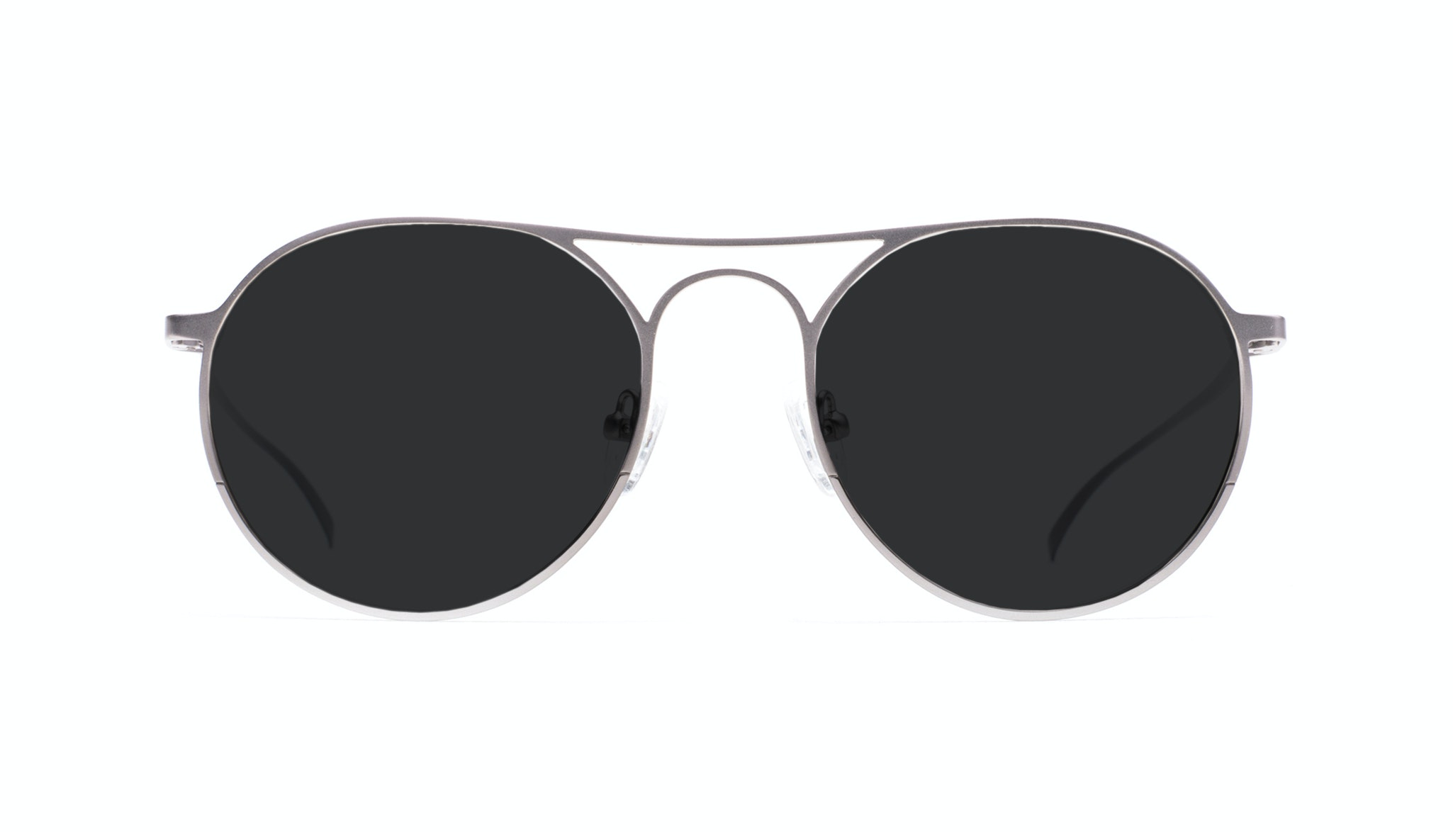 Affordable Fashion Glasses Aviator Round Sunglasses Men Contour Silver Front