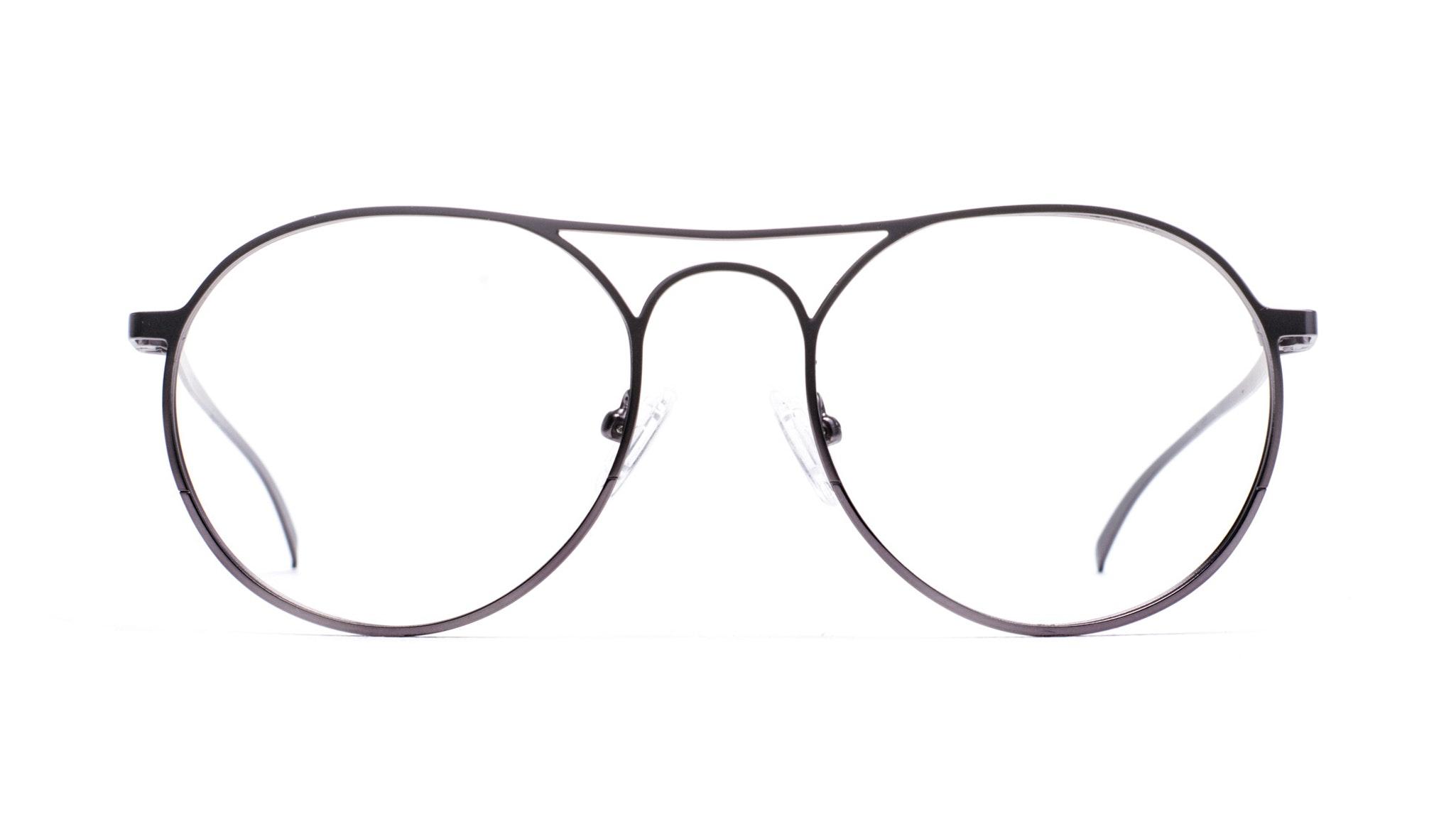 Affordable Fashion Glasses Aviator Round Eyeglasses Men Contour Black