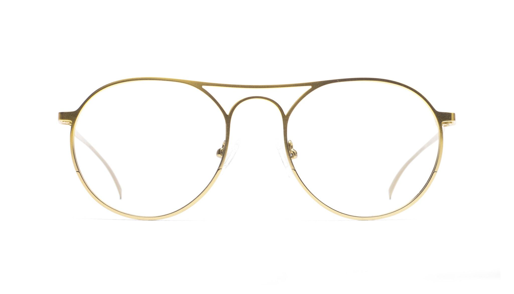 Affordable Fashion Glasses Aviator Round Eyeglasses Men Contour Gold Front