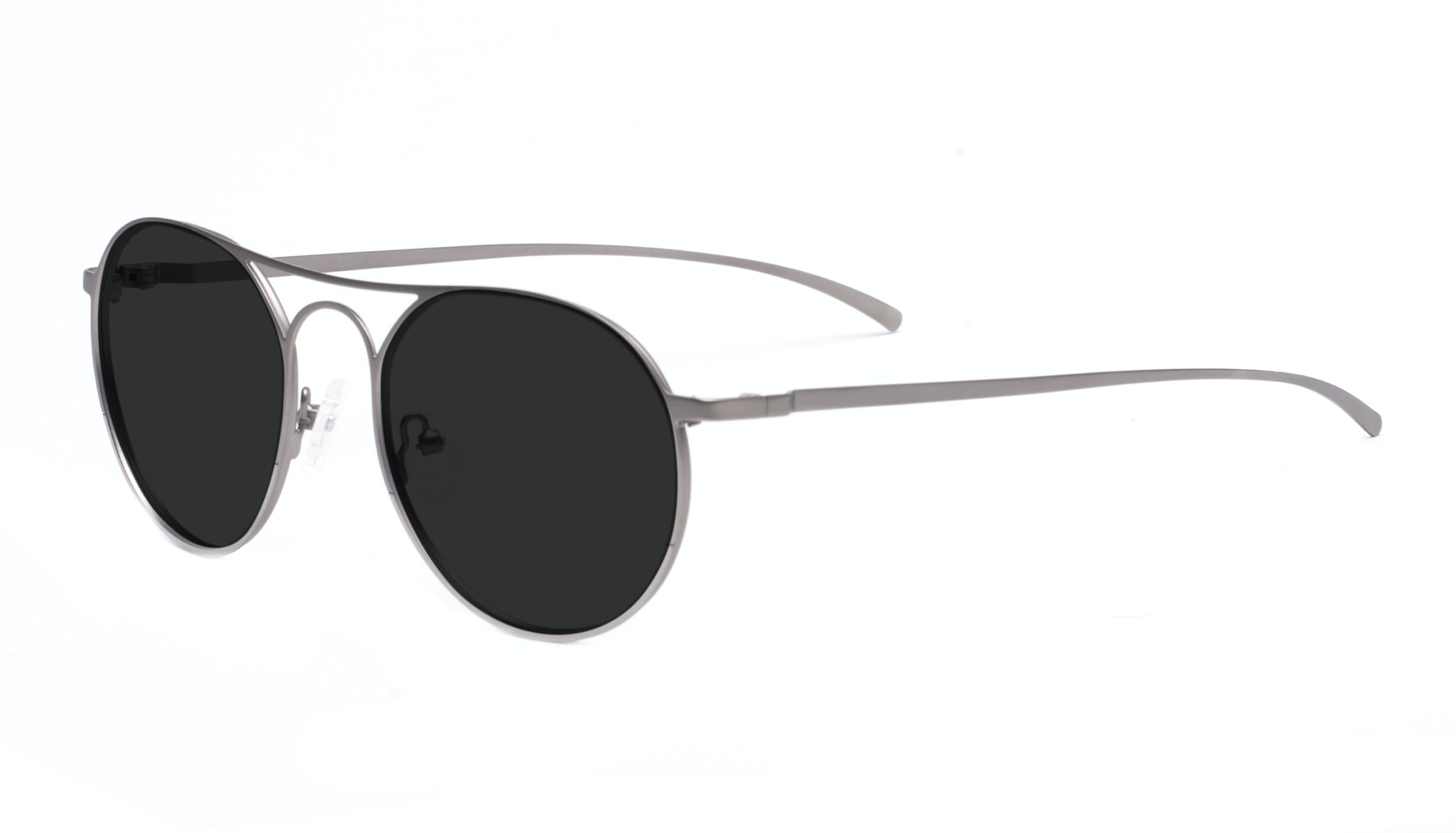 Affordable Fashion Glasses Aviator Round Sunglasses Men Contour Silver Tilt