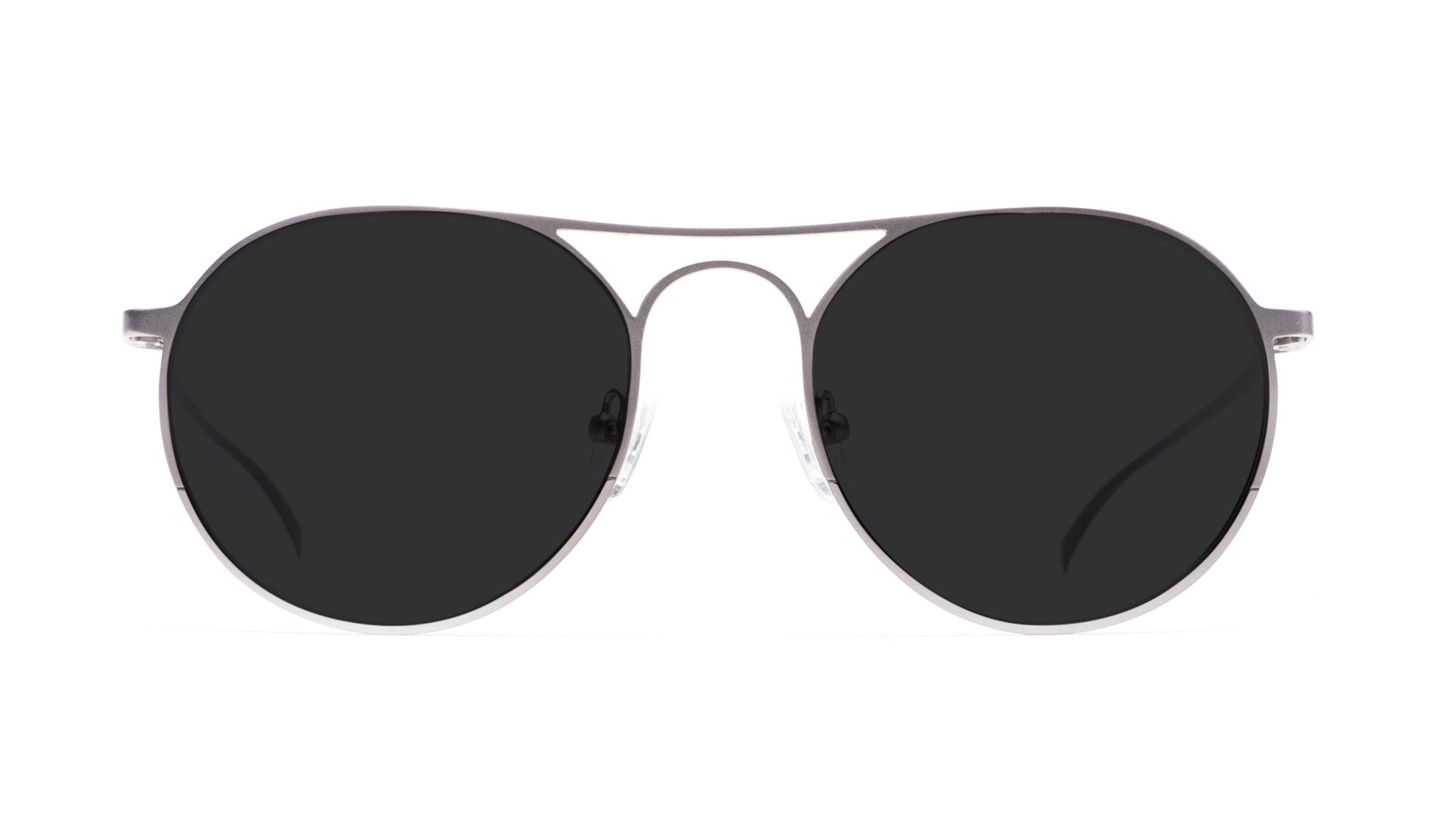 Affordable Fashion Glasses Aviator Round Sunglasses Men Contour Silver Front