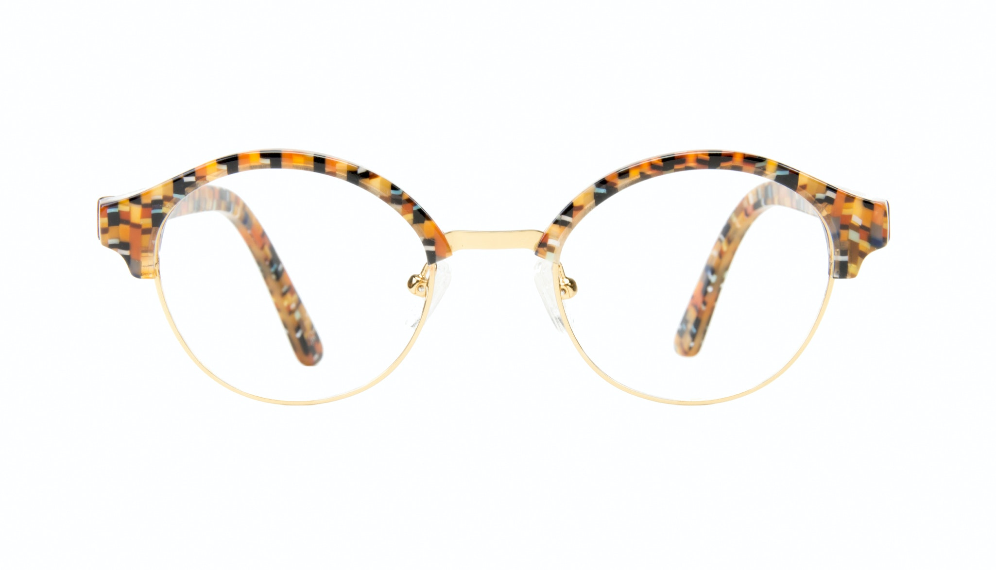 Affordable Fashion Glasses Round Eyeglasses Men Craft Chess