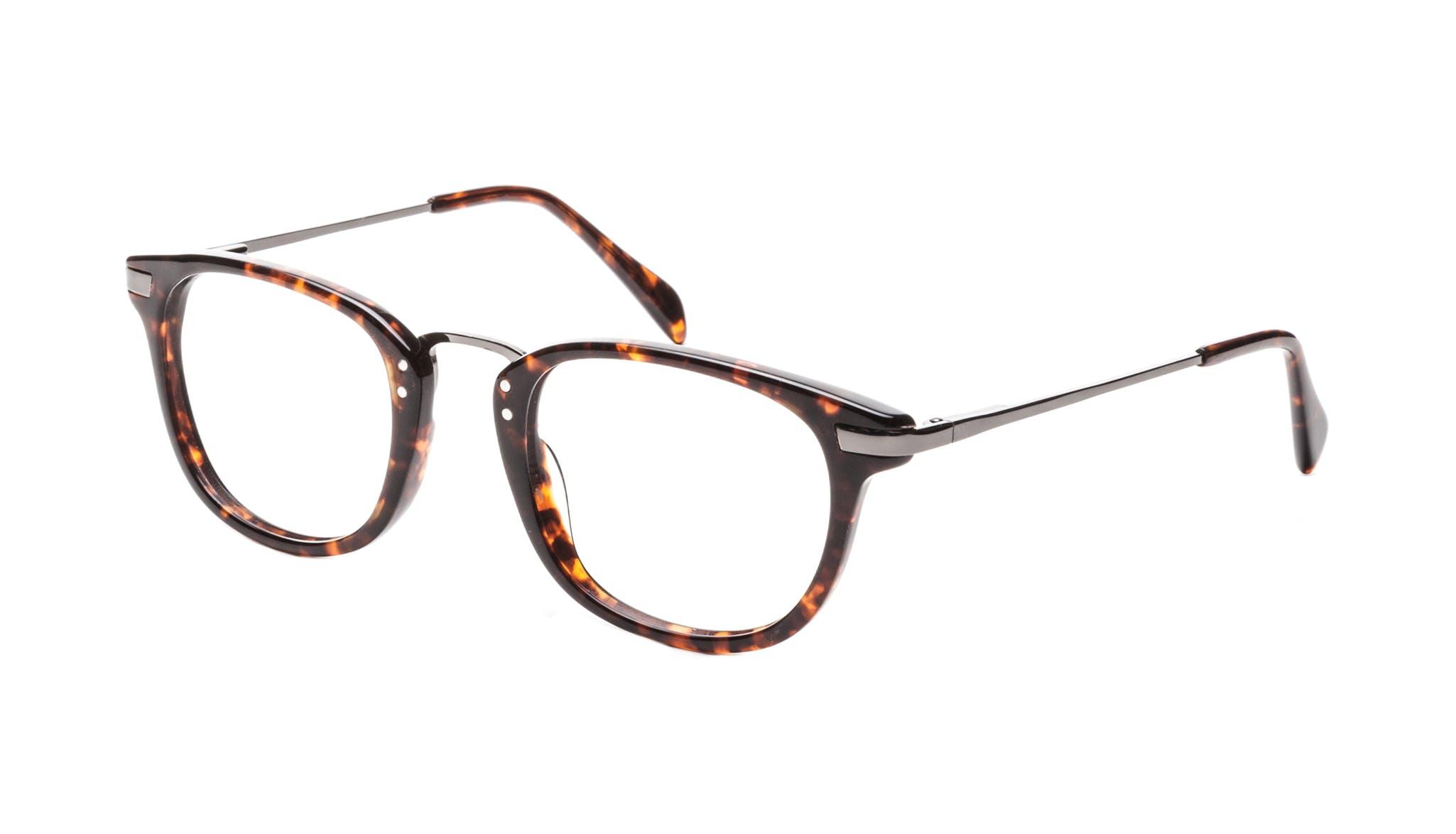 Affordable Fashion Glasses Rectangle Square Eyeglasses Men Daze Sepia Tilt