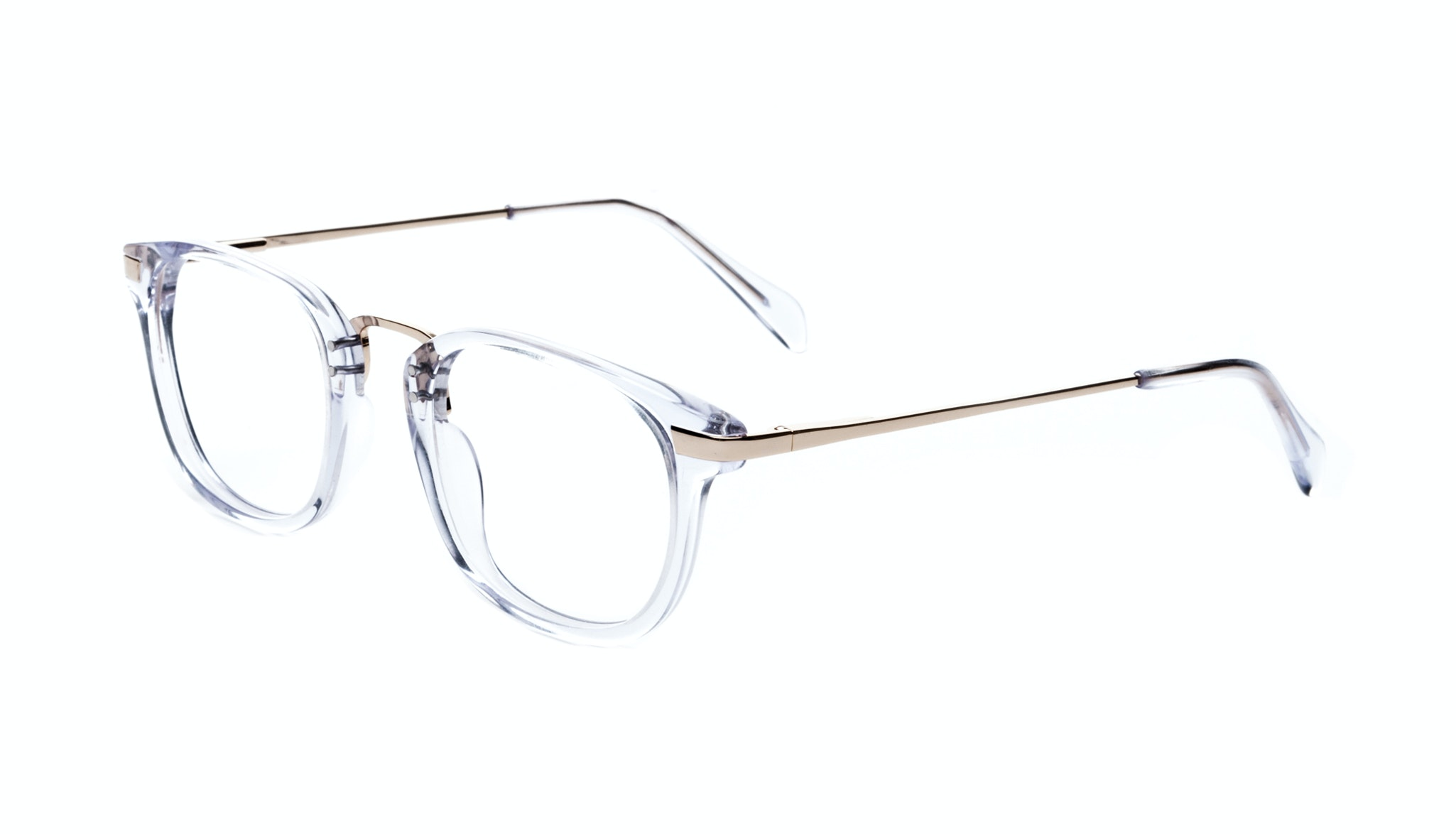 Affordable Fashion Glasses Rectangle Eyeglasses Men Women Daze Gold Diamond Tilt