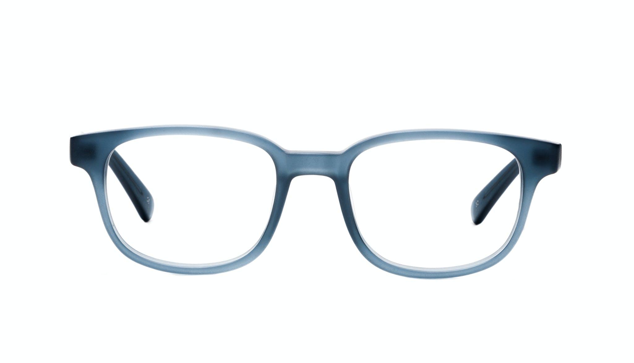Affordable Fashion Glasses Rectangle Square Eyeglasses Men Magnetic Midnight Blue Front