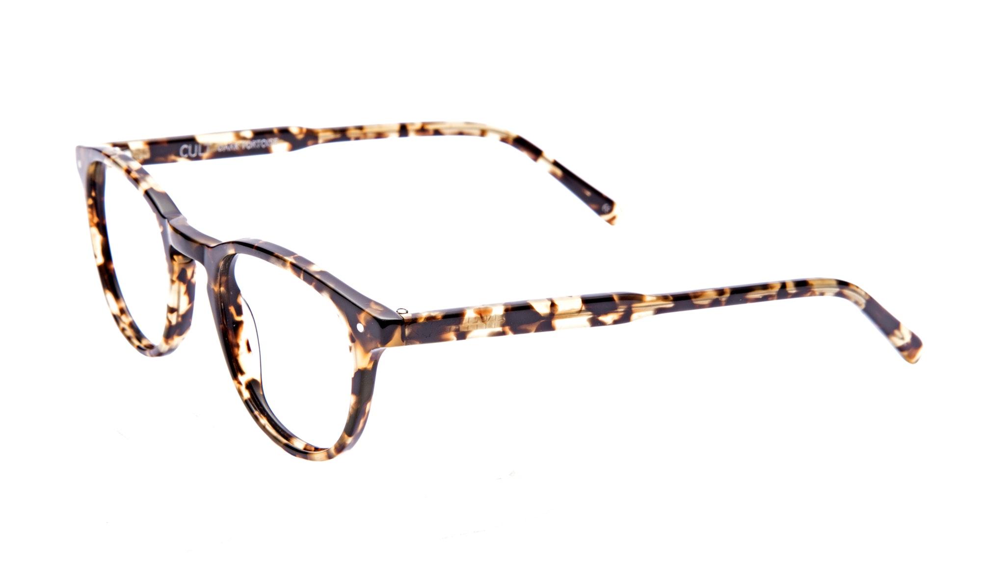Affordable Fashion Glasses Round Eyeglasses Men Cult Dark Tortoise Tilt
