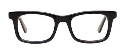 Affordable Fashion Glasses Rectangle Eyeglasses Men Belgo Black Front