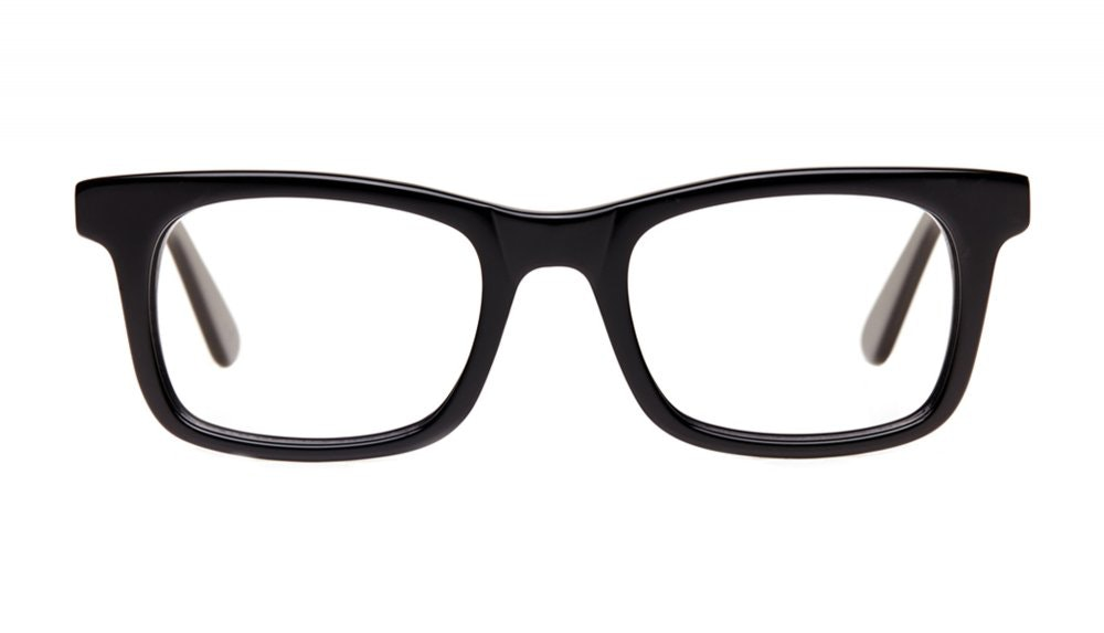Affordable Fashion Glasses Square Eyeglasses Men Women Belgo Black Front