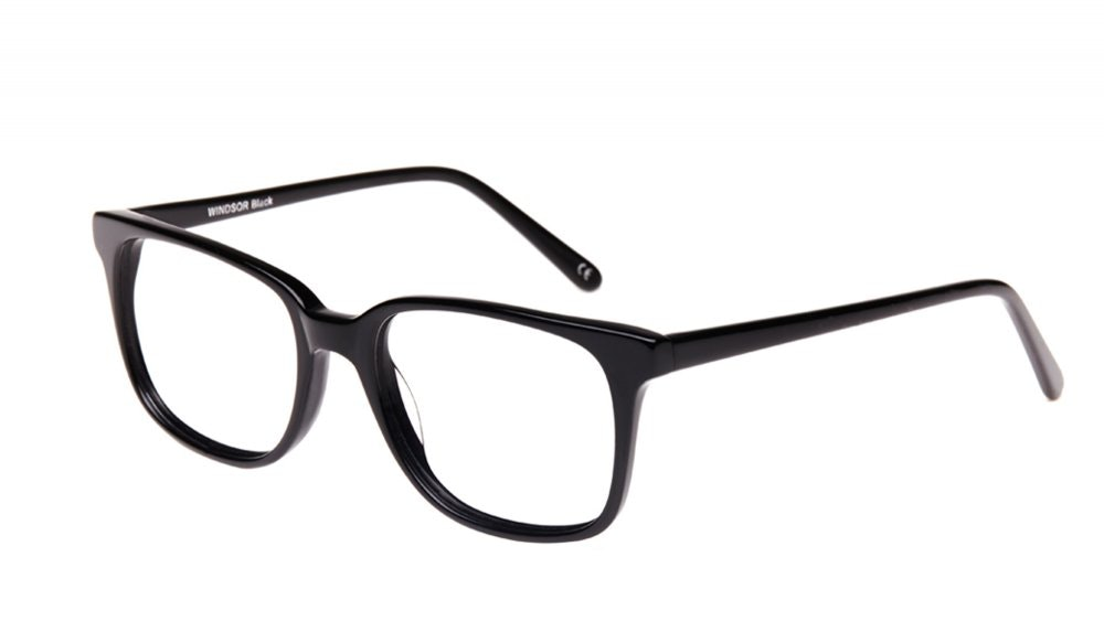 Affordable Fashion Glasses Square Eyeglasses Men Women Windsor Black Tilt