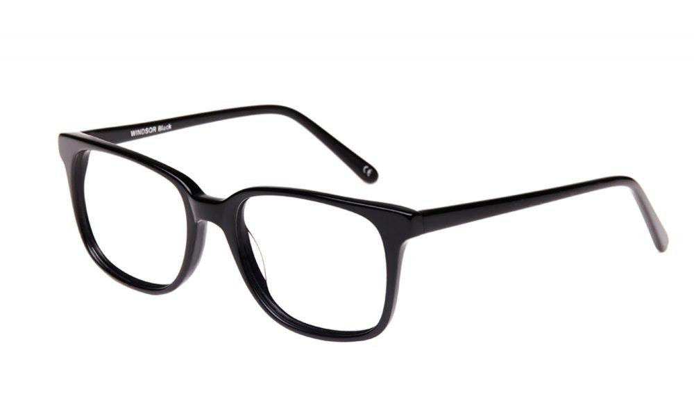 Affordable Fashion Glasses Rectangle Square Eyeglasses Women Windsor Black Tilt