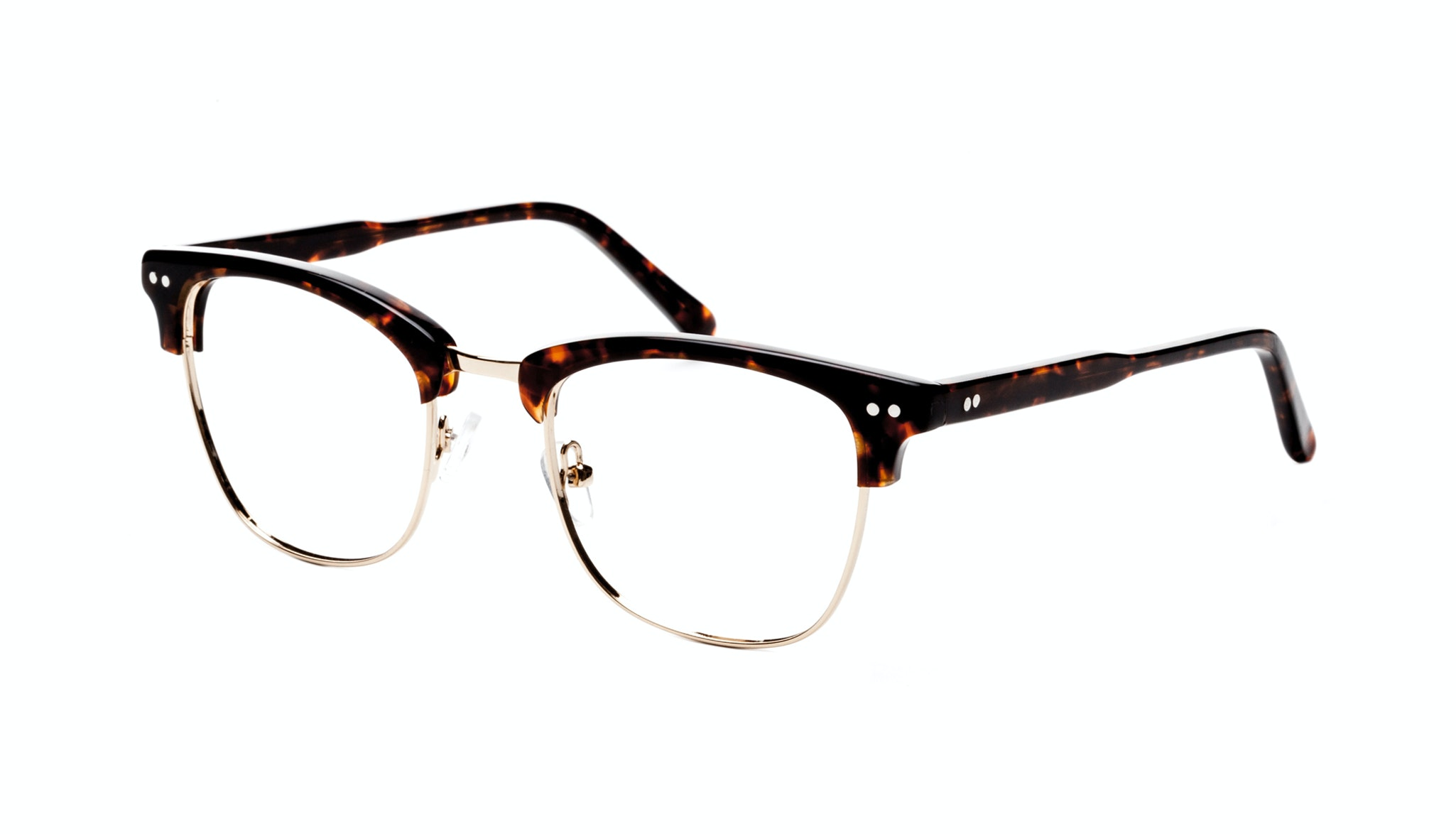 Affordable Fashion Glasses Square Eyeglasses Men Lift Gold Sepia Tilt