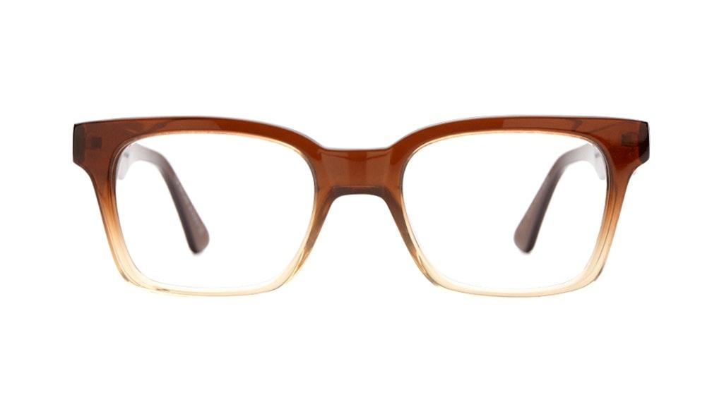 Affordable Fashion Glasses Square Eyeglasses Women Jungle Chic Cinnamon Front