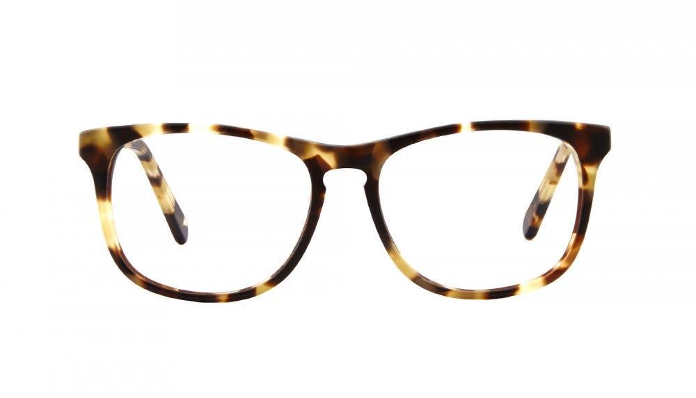 Affordable Fashion Glasses Square Eyeglasses Men Fairmount Amber Tortoise Front