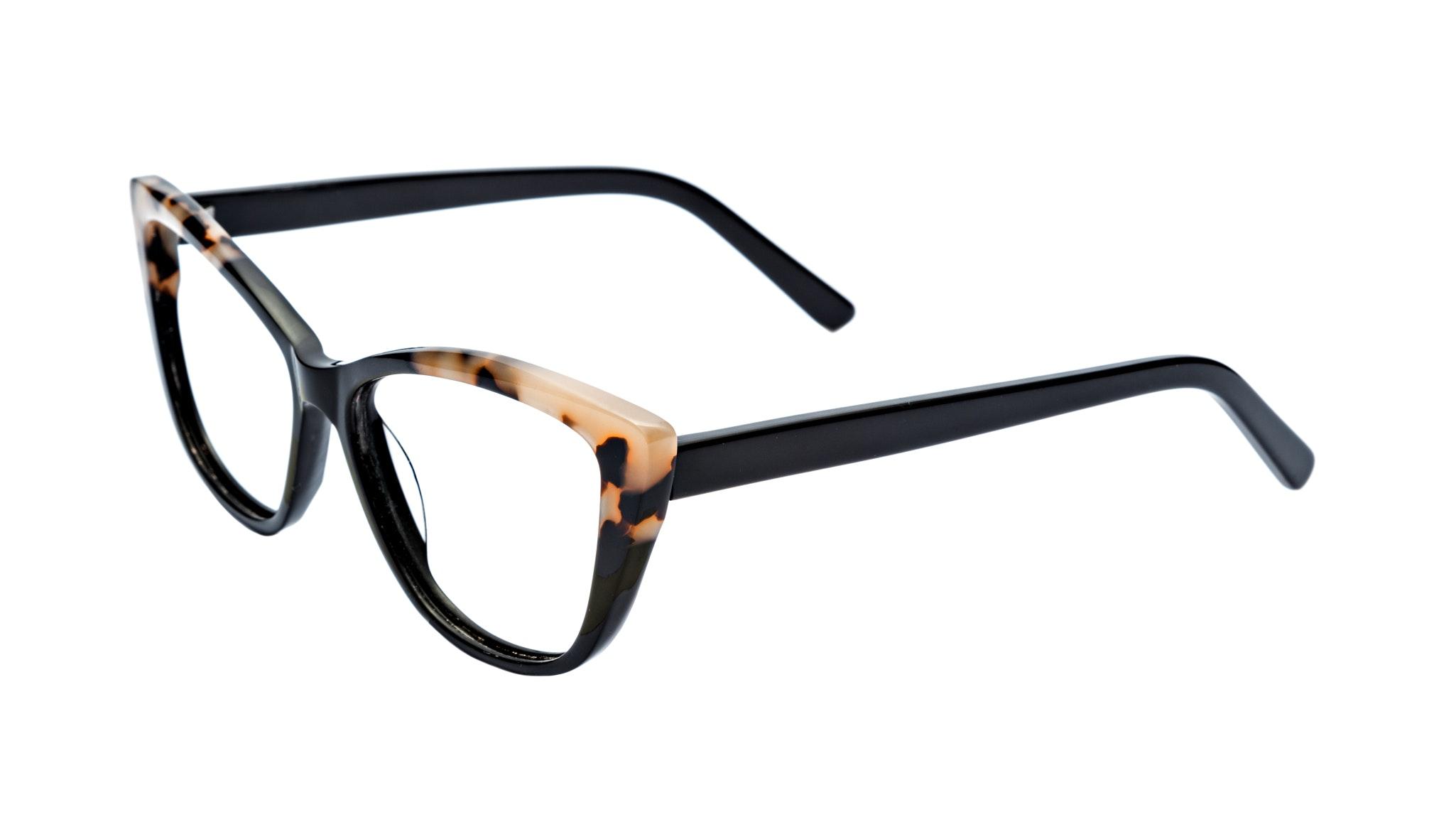Affordable Fashion Glasses Cat Eye Daring Cateye Eyeglasses Women Dolled Up Ebony Granite Tilt