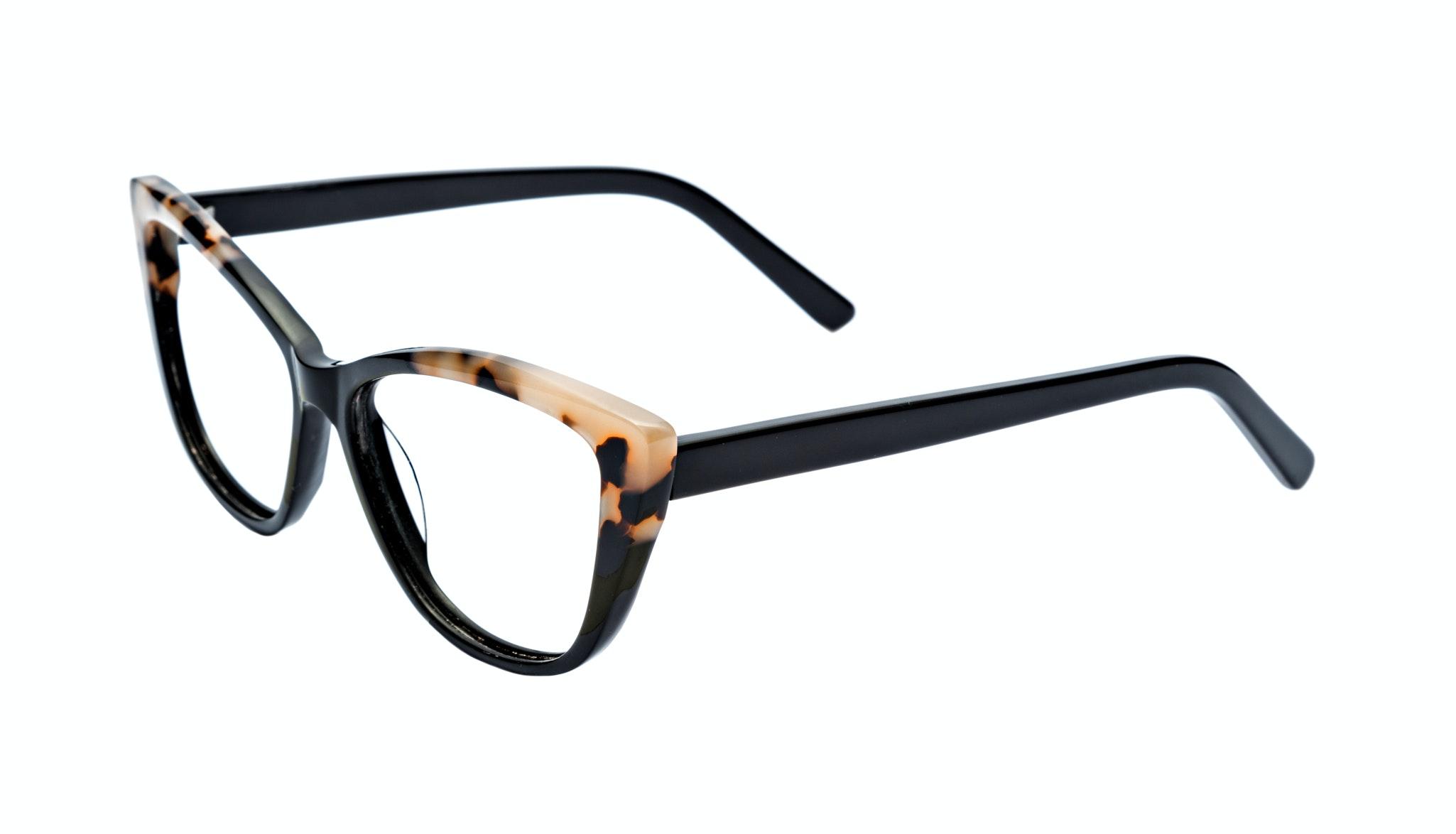 Affordable Fashion Glasses Cat Eye Eyeglasses Women Dolled Up Ebony Granite Tilt
