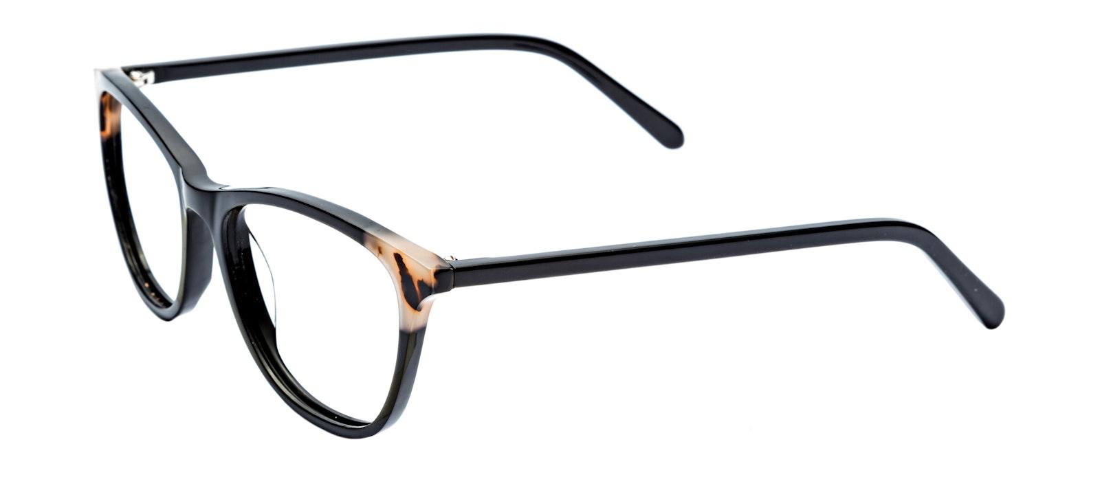 Affordable Fashion Glasses Rectangle Eyeglasses Women Folk Ebony Granite Tilt