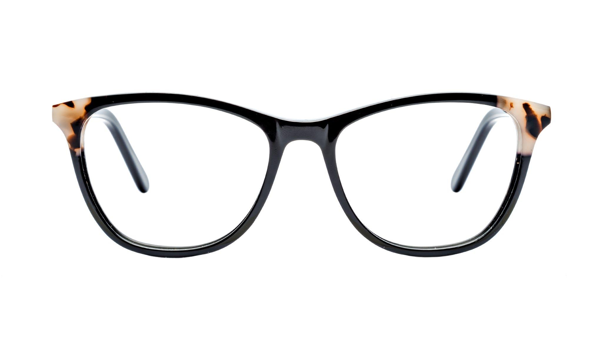 Affordable Fashion Glasses Cat Eye Rectangle Eyeglasses Women Folk Ebony Granite Front