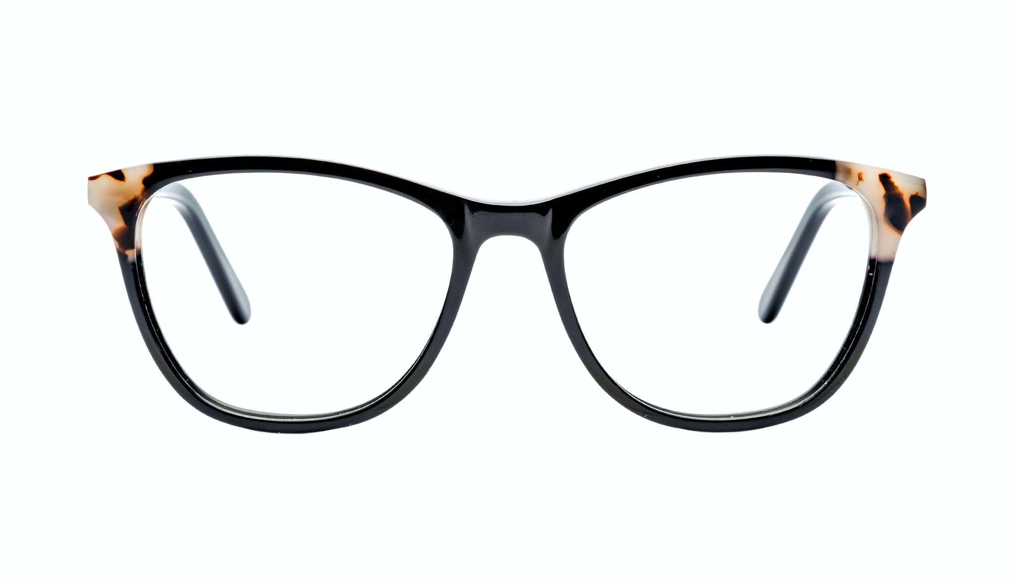 Affordable Fashion Glasses Cat Eye Rectangle Eyeglasses Women Folk Ebony Granite
