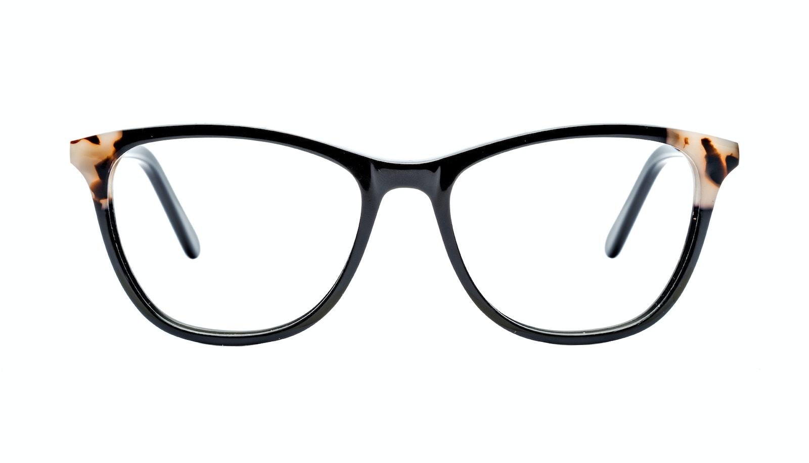 Affordable Fashion Glasses Rectangle Eyeglasses Women Folk Ebony Granite