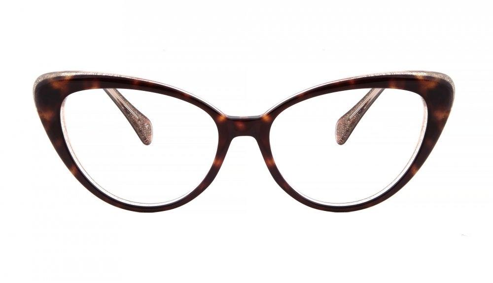 Affordable Fashion Glasses Cat Eye Eyeglasses Women Bombshell Hazel Stardust Front