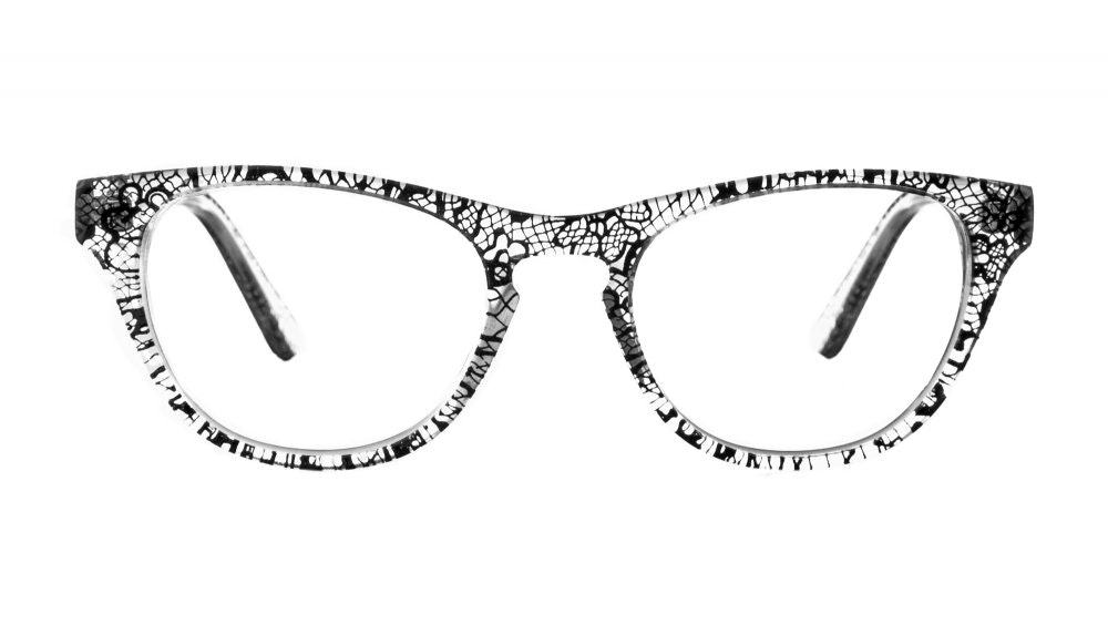 Affordable Fashion Glasses Cat Eye Eyeglasses Women Selfie Black Lace Front