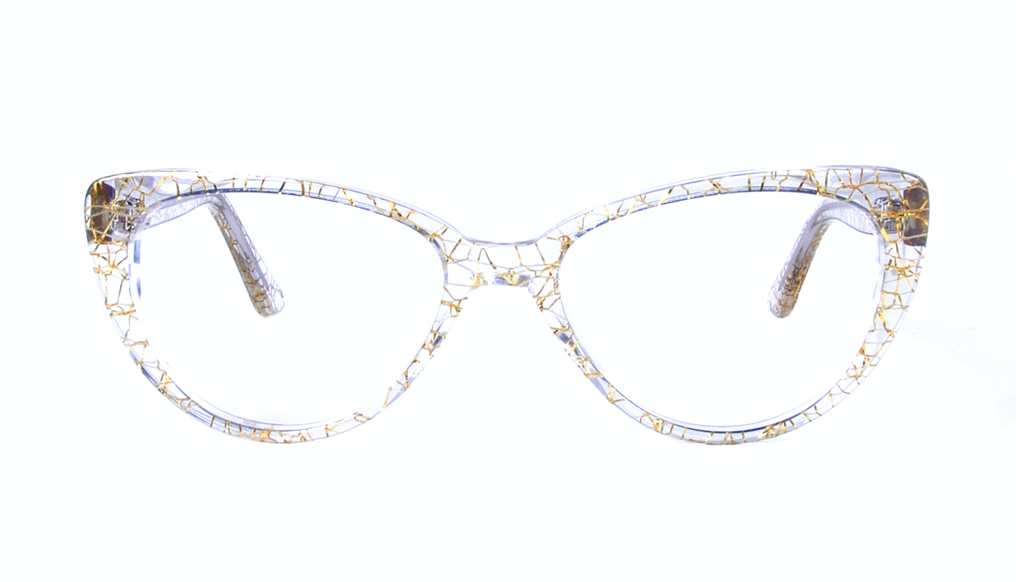 Affordable Fashion Glasses Round Eyeglasses Women Coco Champagne Front