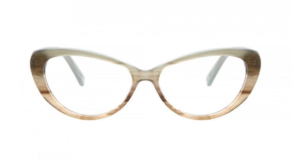 Affordable Fashion Glasses Cat Eye Eyeglasses Women Glamazon  Morning Mist Front
