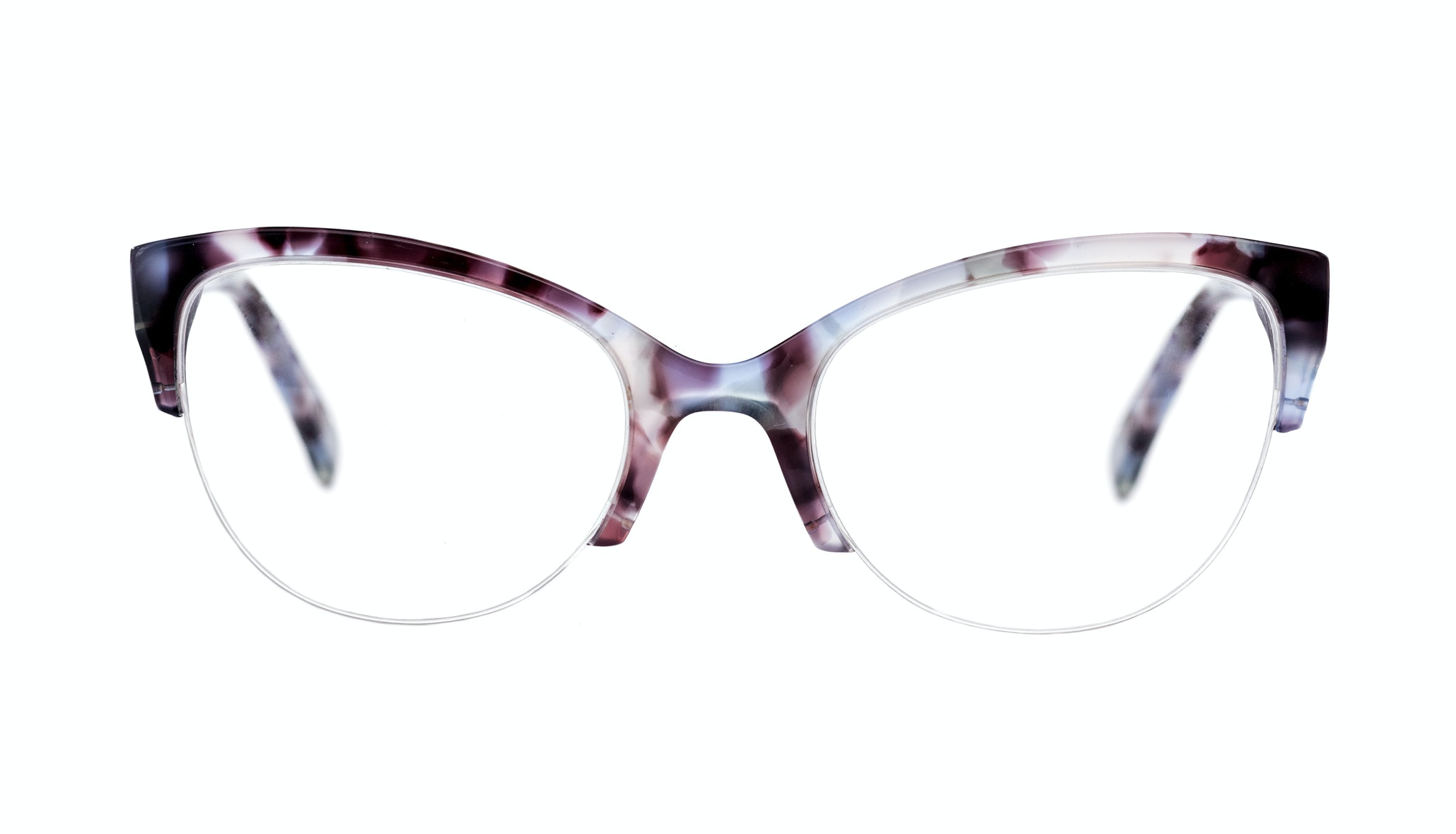Affordable Fashion Glasses Cat Eye Eyeglasses Women Lovely Lilac Tort Front
