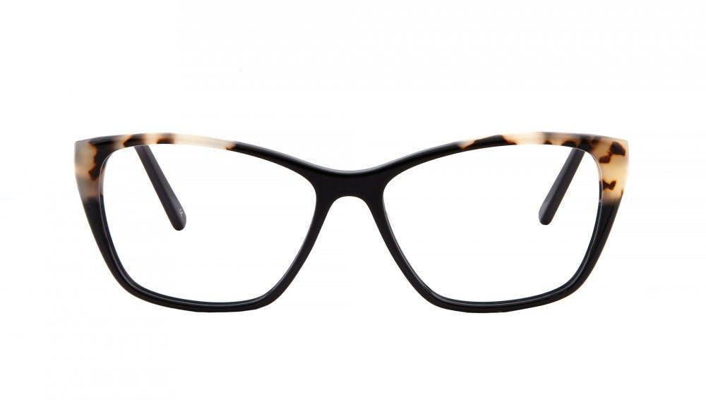 Affordable Fashion Glasses Cat Eye Rectangle Eyeglasses Women Myrtle Ebony Granite Front