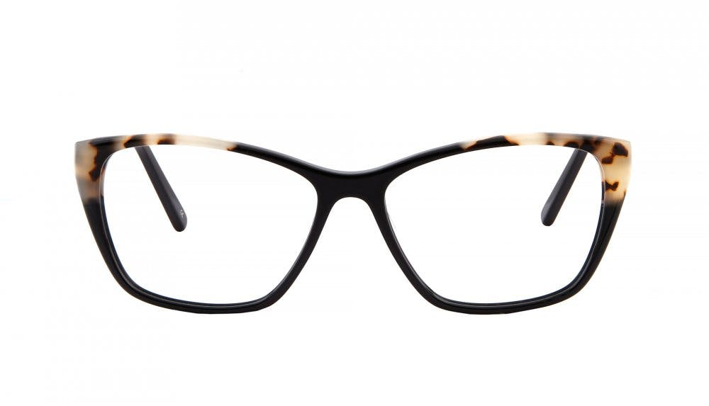Affordable Fashion Glasses Cat Eye Rectangle Eyeglasses Women Myrtle Ebony Granite