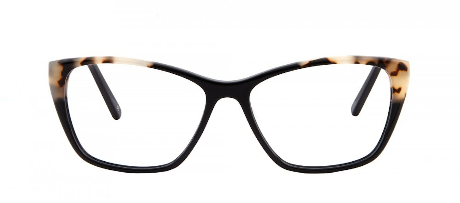 Affordable Fashion Glasses Cat Eye Rectangle Eyeglasses Women Myrtle Ebony Granite Front
