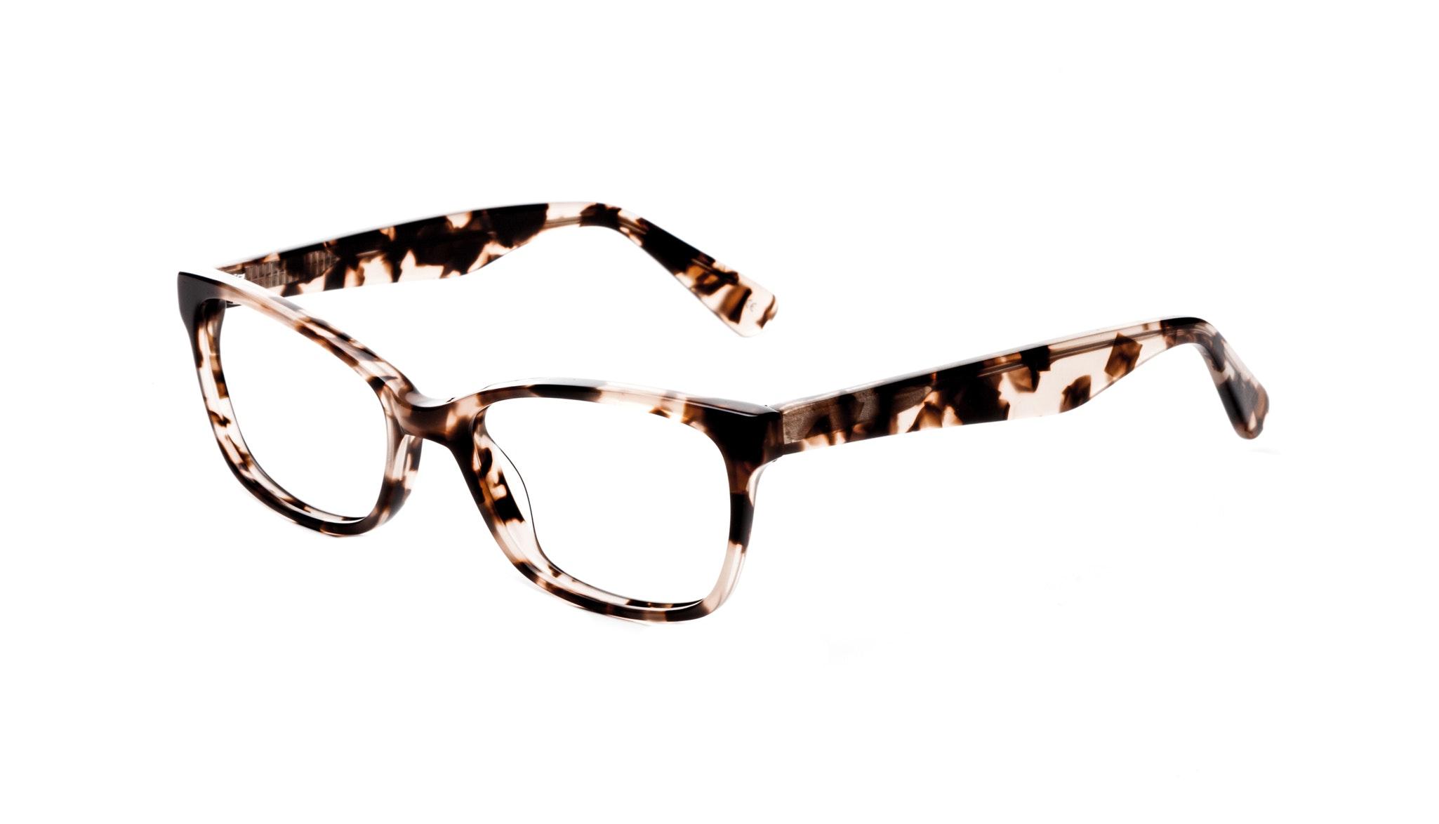 Lunettes tendance Oeil de chat Rectangle Carrée Lunettes de vue Femmes Comet Pink Tortoise Incliné