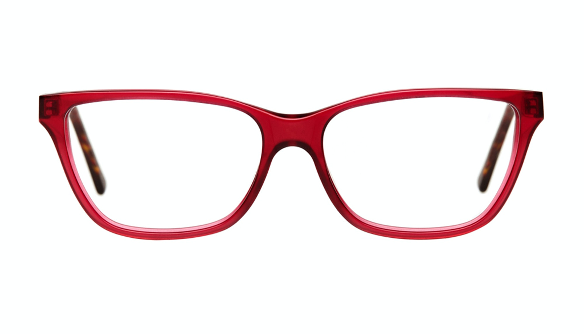 Affordable Fashion Glasses Rectangle Eyeglasses Women Honeybadger Frosted Cherry Front