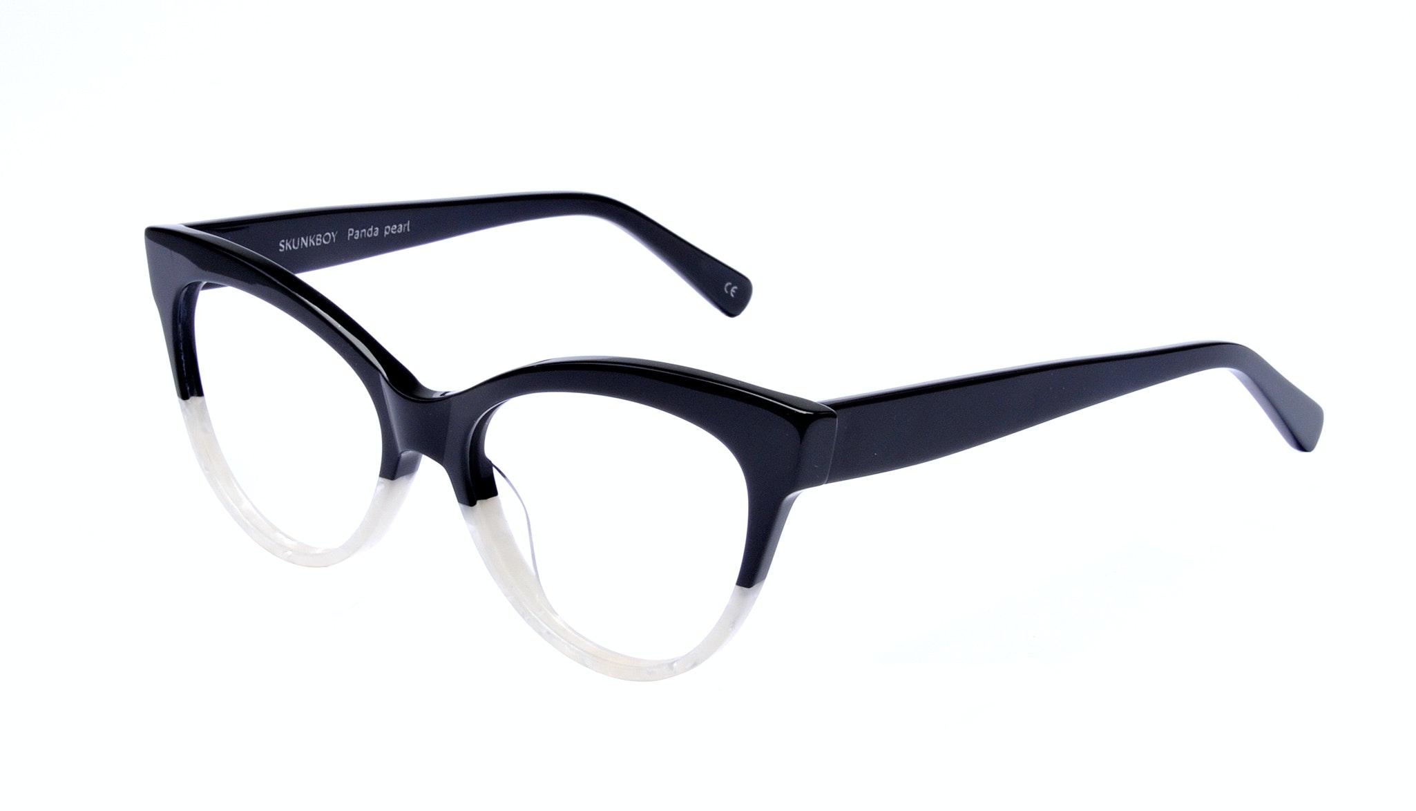 Affordable Fashion Glasses Cat Eye Square Eyeglasses Women SkunkBoy Panda Pearl Tilt