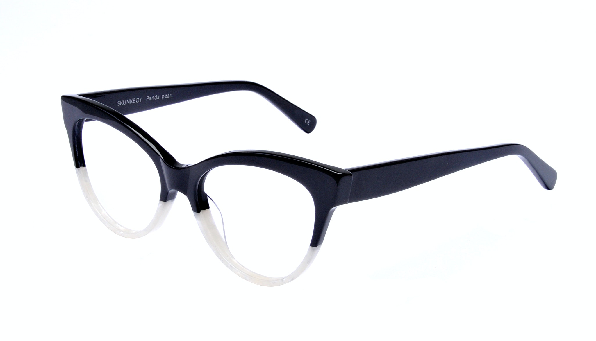 Affordable Fashion Glasses Cat Eye Daring Cateye Eyeglasses Women SkunkBoy Panda Pearl Tilt