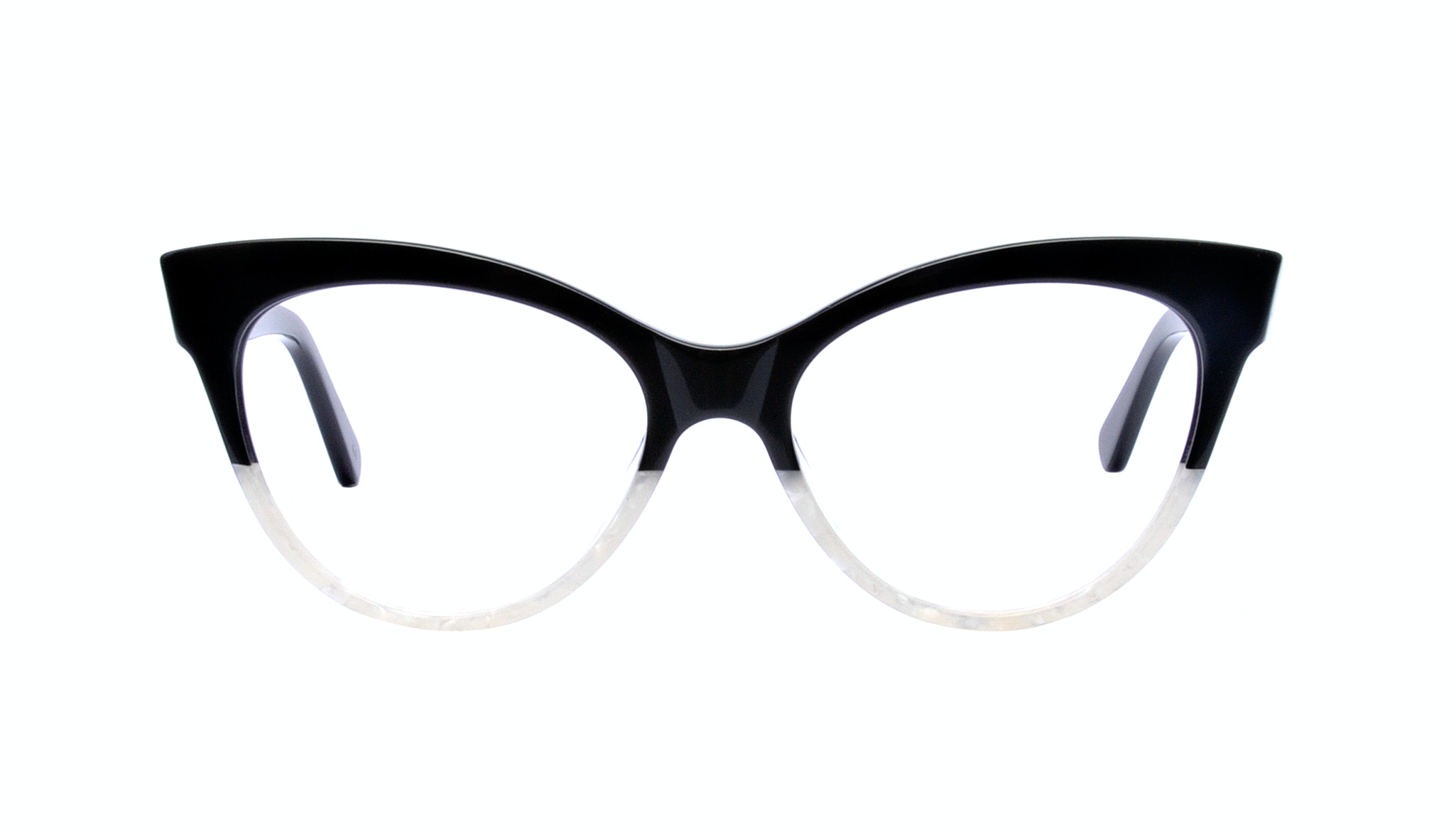 Affordable Fashion Glasses Cat Eye Square Eyeglasses Women SkunkBoy Panda Pearl Front