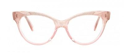 Affordable Fashion Glasses Cat Eye Daring Cateye Eyeglasses Women SkunkBoy Poesy Pink Front
