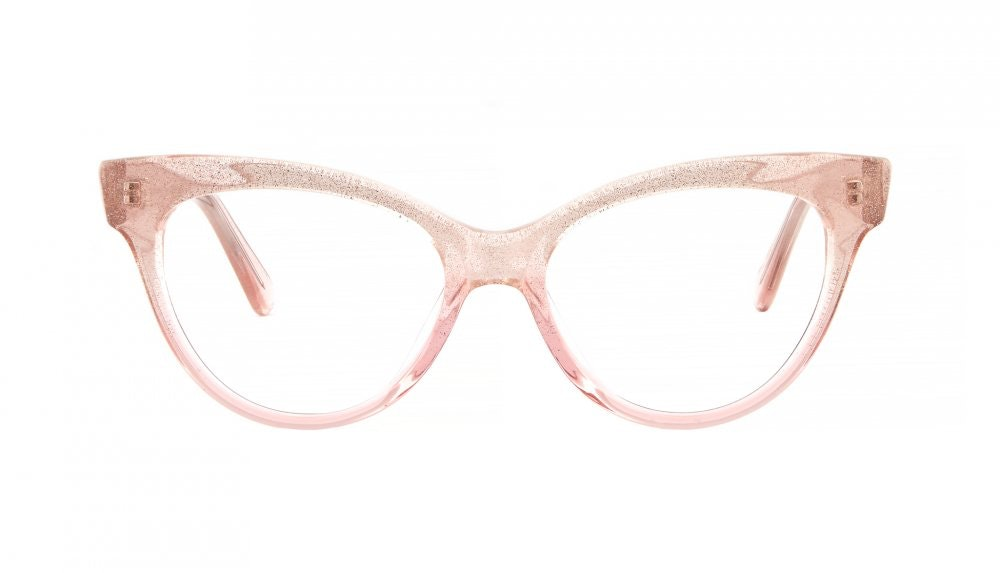 Affordable Fashion Glasses Cat Eye Square Eyeglasses Women SkunkBoy Poesy Pink Front
