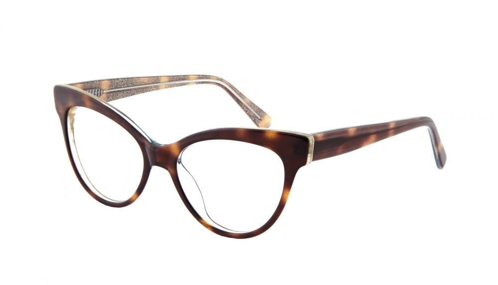 Affordable Fashion Glasses Cat Eye Eyeglasses Women SkunkBoy Twinkle Tort Tilt