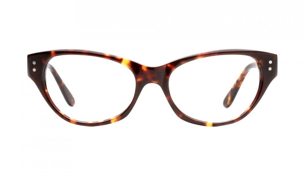 Affordable Fashion Glasses Cat Eye Eyeglasses Women Chitchat Sepia Kiss Front